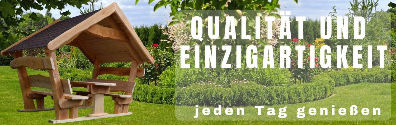 QUALITÄT UND EINZIGARTIGKEIT jeden Tag genießen Gartenlaube ROH SMART&COMFORT
