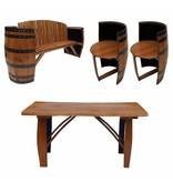 Garten Perfekt Fassgarnitur TALBOT 4-teilige Sitzgruppe aus Whiskyfass