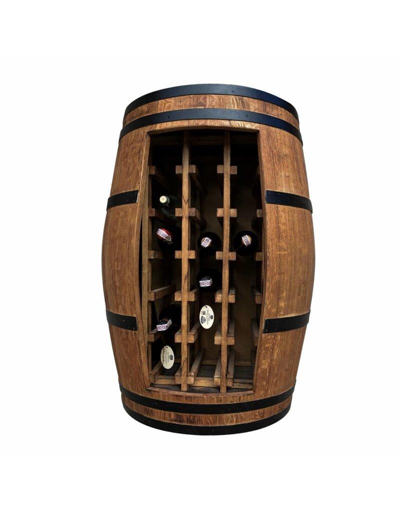 Garten Perfekt Fasskönigbar TREBBIANO 2 ohne Türe aus massivem Eichenholz aus gebrauchtem Weinfass perfekt für Weinkeller, Vinothek