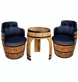 Garten Perfekt Fassgarnitur NEGRO AMARO 3-teilige Sitzgarnitur vom Fass