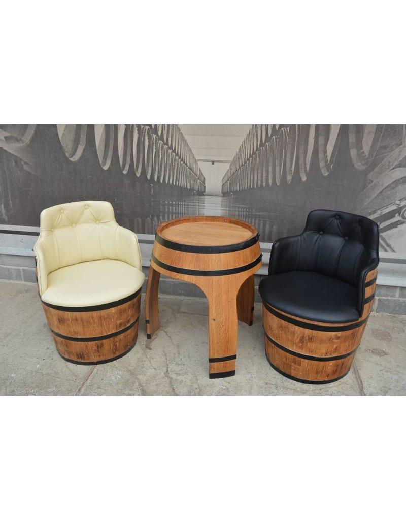 Garten Perfekt Fasssessel NEGRO AMARO Sessel vom Fass mit Kunstlederbezug