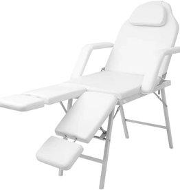 vidaXL Behandelstoel kunstleer wit