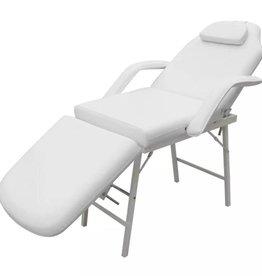 vidaXL Behandelstoel met verstelbaar rug-en voetendeel wit