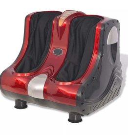 vidaXL Shiatsu voet- en kuit massageapparaat rood