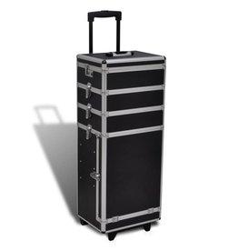 vidaXL 5-in-1 multifunctionele aluminium trolleykoffer