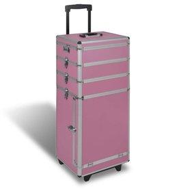 vidaXL 5 in 1 multifunctionele cosmetica trolley (roze)