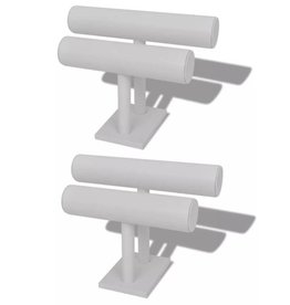 vidaXL Twee-delige sieradenhouder wit (2 stuks)