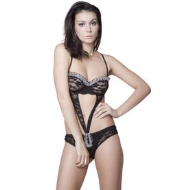 vidaXL Lingerie teddy bikini maat s / m