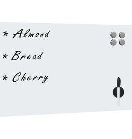 vidaXL Whiteboard voor aan de wand magnetisch 60x40 cm glas