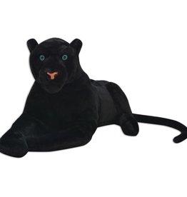 vidaXL Speelgoedpanter pluche zwart XXL
