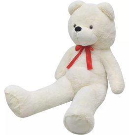 vidaXL Knuffelbeest teddybeer 260 cm pluche wit