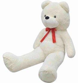 vidaXL Teddybeer zacht pluche XXL 175 cm wit
