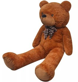 vidaXL Teddybeer XXL 175 cm zacht pluche bruin