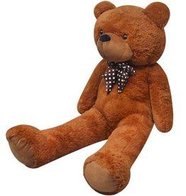vidaXL Teddybeer XXL 100 cm zacht pluche bruin