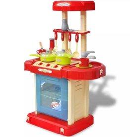 vidaXL Kinderspeelkeuken met licht- en geluidseffecten