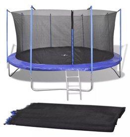 vidaXL Veiligheidsnet PE zwart voor 3,96 m ronde trampoline