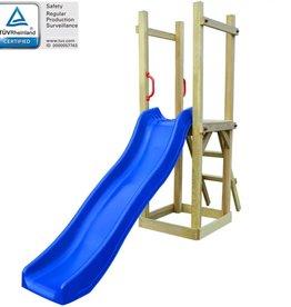vidaXL Speelhuis met glijbaan en ladder 237x60x175 cm FSC grenenhout