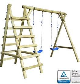 vidaXL Schommelset met ladders 268x154x210 cm FSC grenenhout