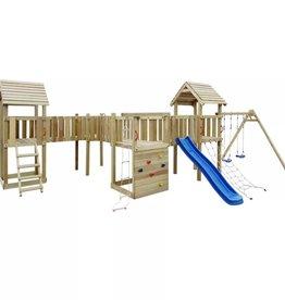 vidaXL Speeltoestel + glijbaan, ladders, schommels 800x615x294cm hout