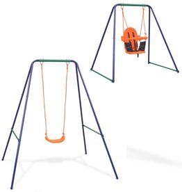 vidaXL Schommel voor peuters 2-in-1 oranje
