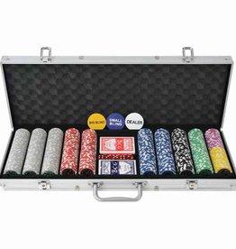vidaXL Pokerset met 500 chips aluminium