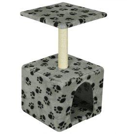 vidaXL Kattenkrabpaal 55 cm grijs met pootafdrukken