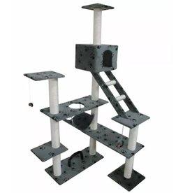 vidaXL Kattenkrabpaal Boris 184 cm (grijs) met pootafdrukken