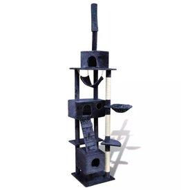 vidaXL Kattenkrabpaal Tommie 220/240 cm 3 huisjes (donkerblauw)