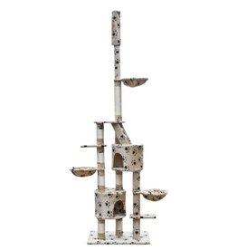 vidaXL Krabpaal Simba 260 cm XL beige met pootjes print