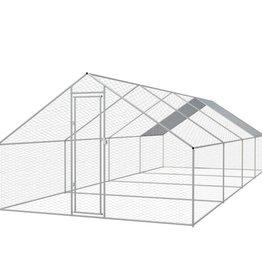 vidaXL Buitenhok voor kippen 3x8x2 m gegalvaniseerd staal