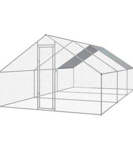 vidaXL Buitenhok voor kippen 3x6x2 m gegalvaniseerd staal