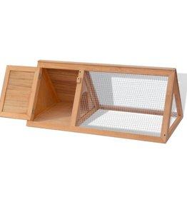 vidaXL Konijnenhok hout