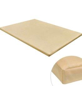 vidaXL Hondenmat plat rechthoekig L beige
