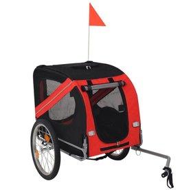 vidaXL Hondenfietskar rood en zwart