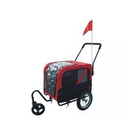 vidaXL Hondenfietskar met jogger rood
