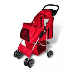 vidaXL Wandelwagen voor honden rood