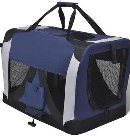 vidaXL L Draagbare en vouwbare huisdierendrager met ramen