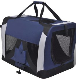 vidaXL S Draagbare en vouwbare huisdierendrager met ramen