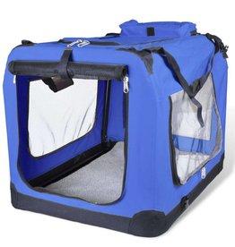 vidaXL Huisdierendrager vouwbaar blauw maat L