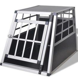 vidaXL Hondentransportkooi S aluminium