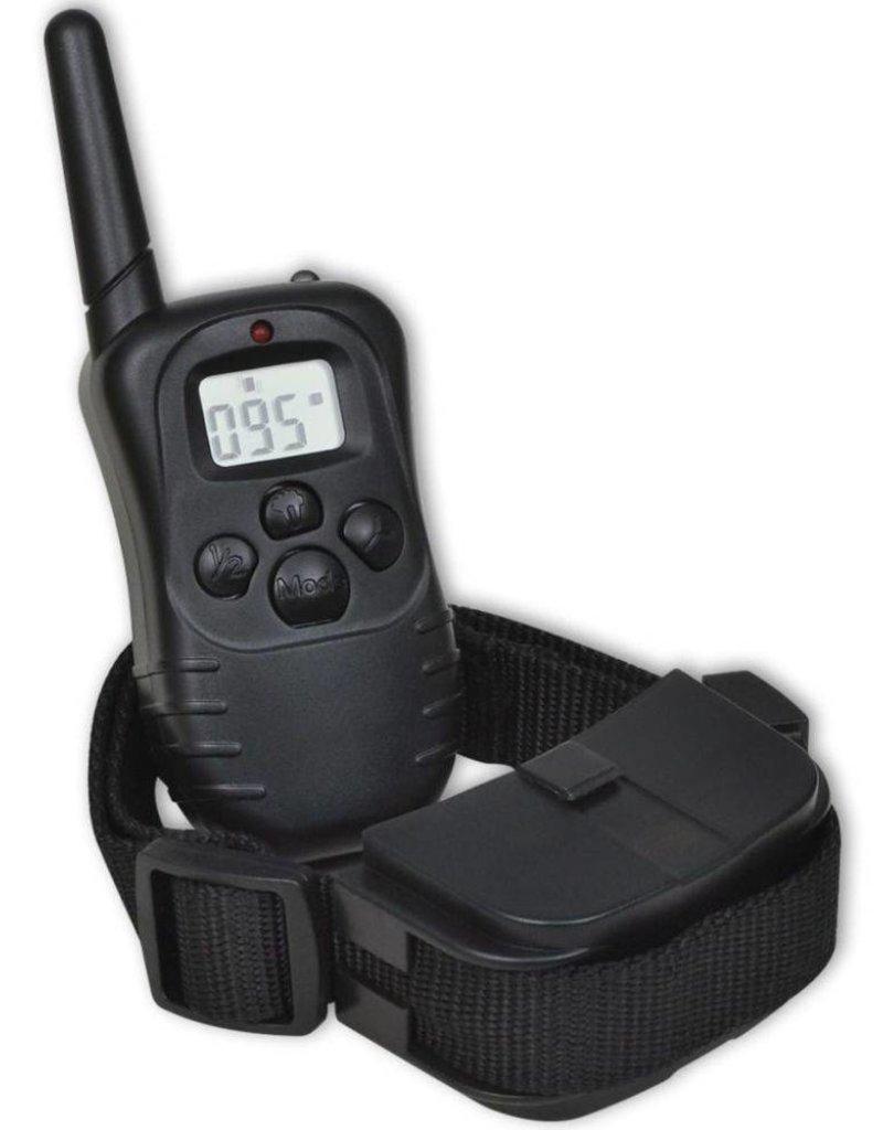 vidaXL Trainingshalsband + E-halsband en op afstand bedienbare anti-blaf