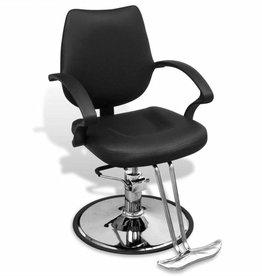 vidaXL Kappersstoel professioneel kunstleer zwart
