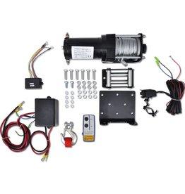 vidaXL Elektrische lier 12 V 1360 kg met montageplaat en rollenvenster