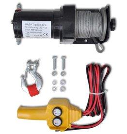 vidaXL Elektrische lier 12V 907 kg met afstandsbediening