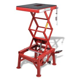 vidaXL Rode motorlift 135 kg met voetpedaal
