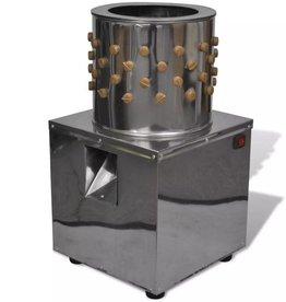 vidaXL Elektrische plukmachine voor pluimvee met 98 plukvingers 27 cm 180 W