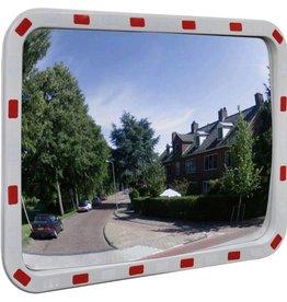 vidaXL Verkeersspiegel rechthoek met reflectoren 60x80 cm
