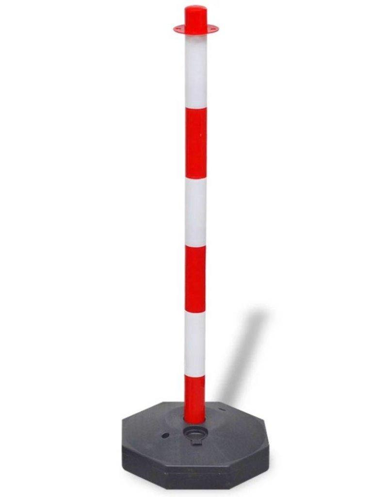 vidaXL Hekpalenset met 10 m kunststof ketting