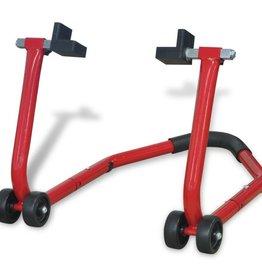 vidaXL Motorfiets achterwiel paddock standaard rood