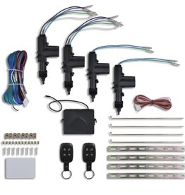 vidaXL Centrale deurvergrendeling set + 2 afstandsbedieningen